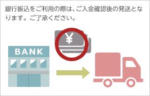 銀行振込をご利用の際は、ご入金確認後の発送となります。ご了承ください。